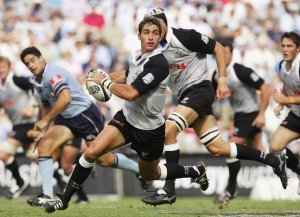 Ruan Pienaar playing for the Sharks