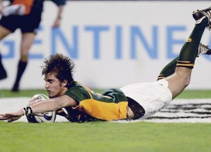 Ruan Pienaar scoring in the 2005 U21 World Championship final