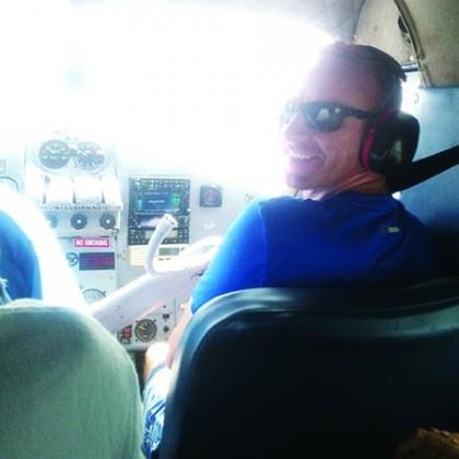 Ben Ryan taking a flight to a tournament