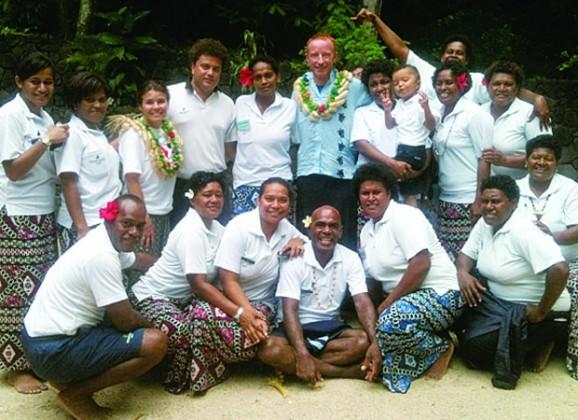 Typical Fijian welcome