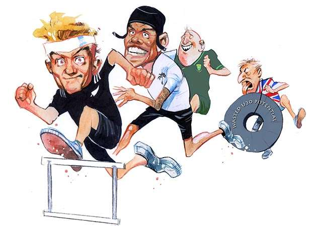hurdles cartoon