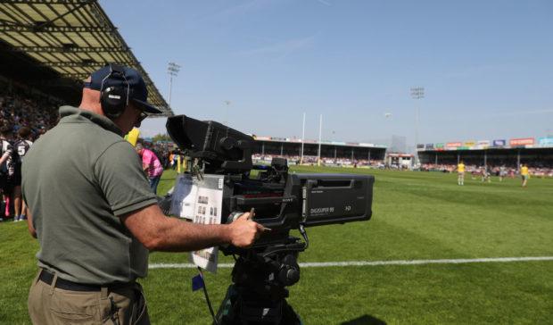 TV camera - Premiership rugby