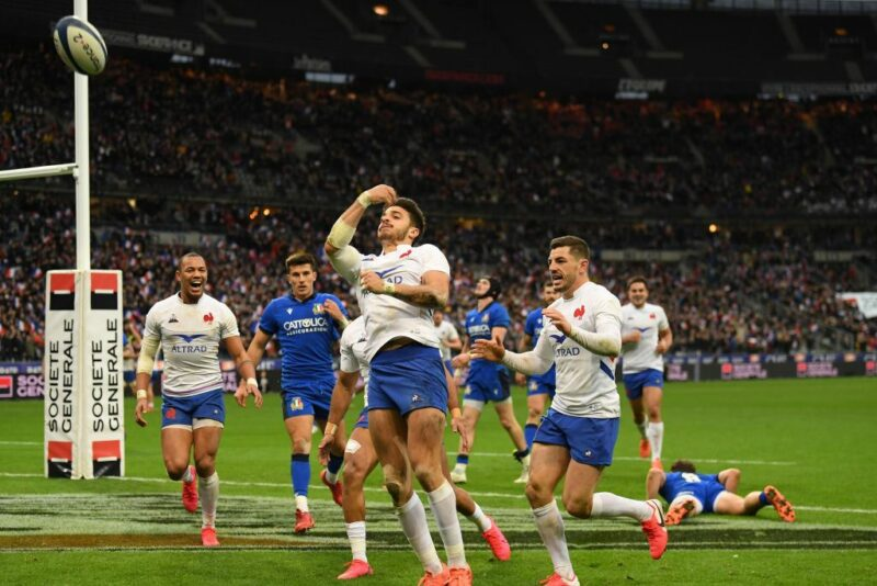 France fly-half Romain Ntamack