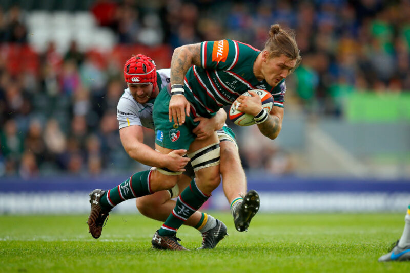 Leicester Tigers No.8 Guy Thompson
