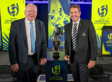 World Rugby chairman Bill Beaumont and NZR chief executive Mark Robinson