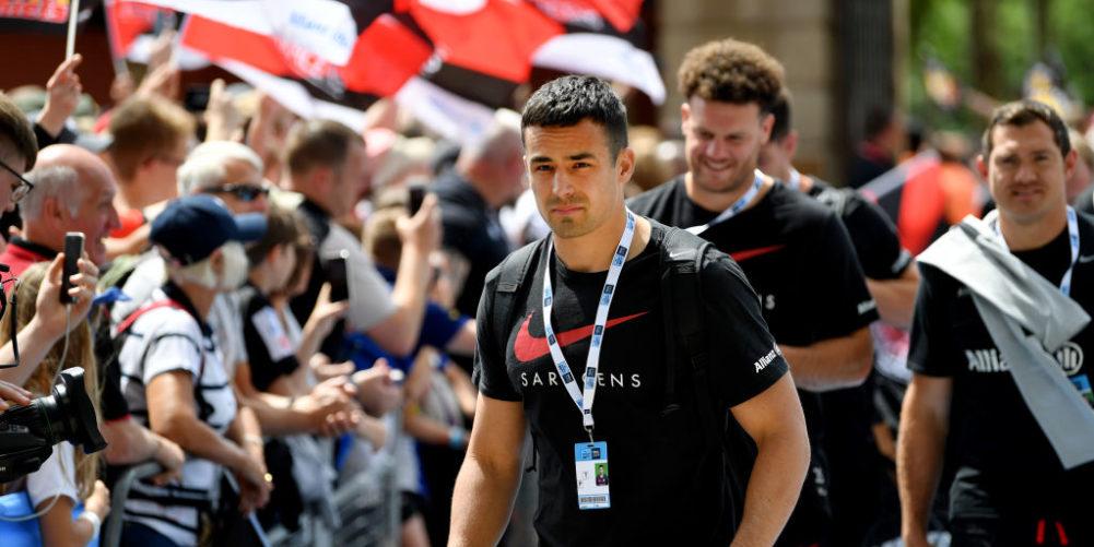 Saracens and England centre Alex Lozowski