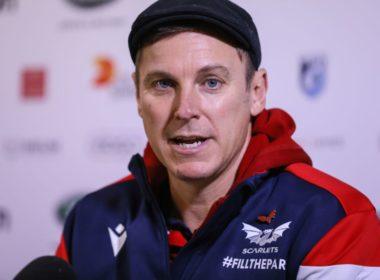 Scarlets head coach Brad Mooar