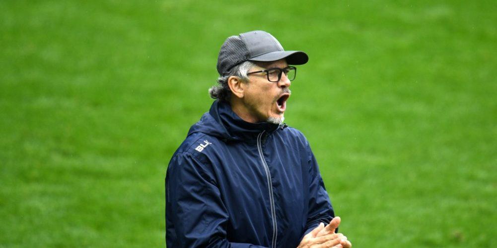 London Irish head coach Les Kiss