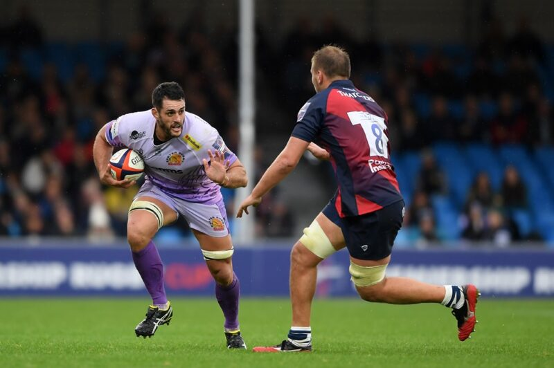 Exeter Chiefs flanker Dave Dennis