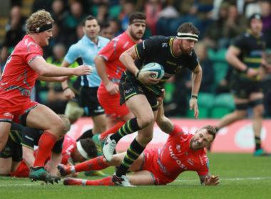 Northampton and England flanker Tom Wood
