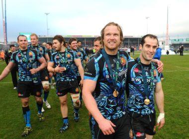 Exeter Chiefs scrum-half Hadyn Thomas