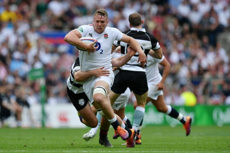 Alex Dombrandt playing for England XV