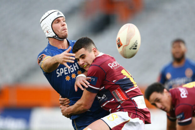 Henry Purdy in action for Otago