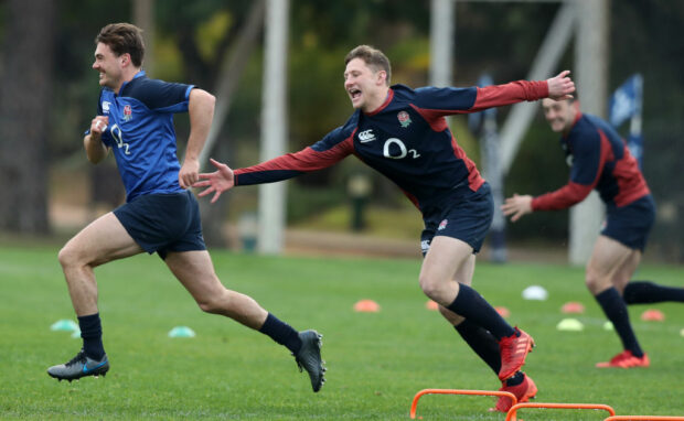 England centre Fraser Dingwall in training