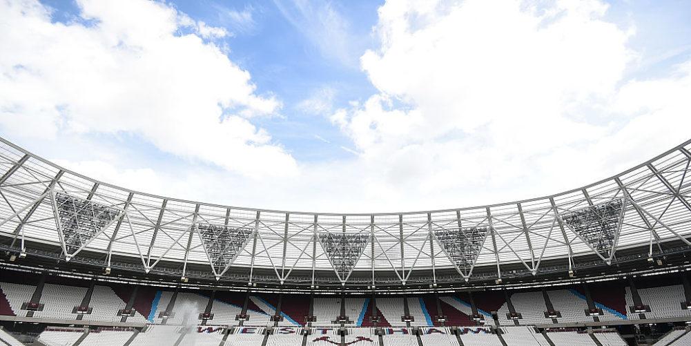 West Ham play at the Olympic Stadium