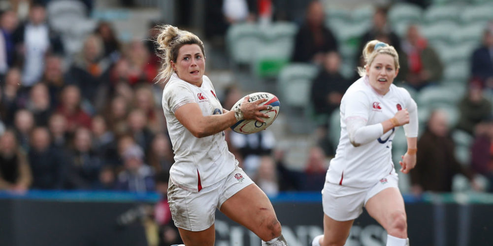 England flanker Vicky Fleetwood in Six Nations action