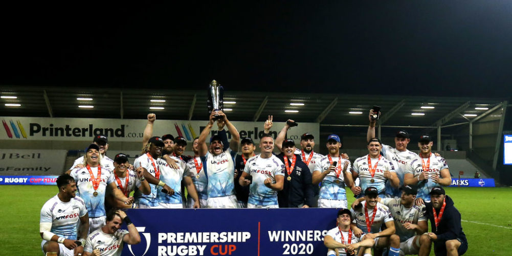 Sale Sharks lift the Premiership Rugby Cup