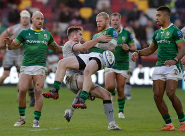 London Irish full-back Tom Homer