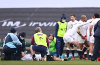 England flanker Jack Willis suffered a horror knee injury