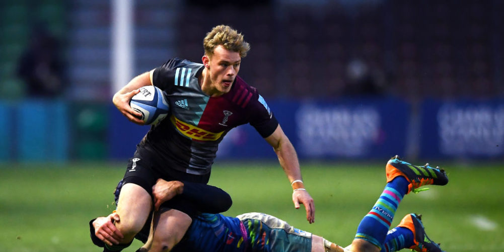 Harlequins wing Louis Lynagh