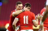 Wales wing George North and Josh Adams