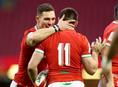 Wales wing George North and Josh Adams