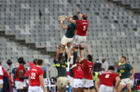 Lood de Jager in the Lions second Test