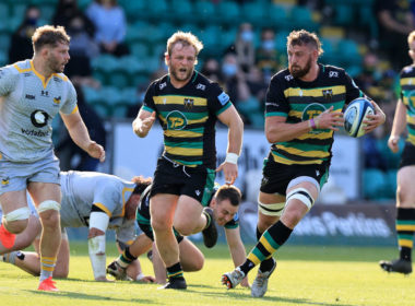 Northampton Saints flanker Tom Wood