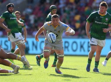 Wasps back row Tom Willis scored a hat-trick at London Irish