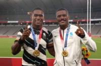 Fiji Sevens duo Aminiasi Tuimaba and Jiuta Wainiqolo