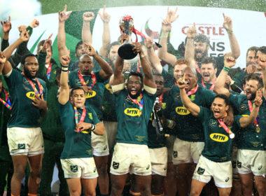 Springboks celebrate Lions series win