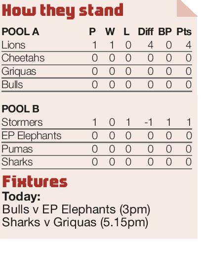 Swanepoel'sno slouch ingiving Lions asolid platform