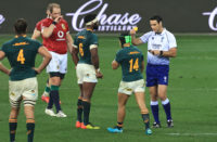 Ben O'Keeffe lets Cheslin Kolbe off lightly after a week of attention on the referees brought on by Rassie Erasmus